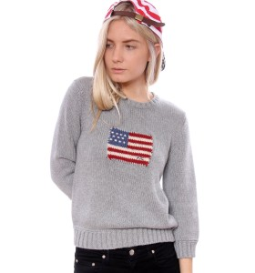 Vintage us flag ralph lauren sweater