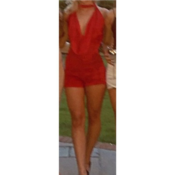 1db32d68b39d jumpsuit black playsuit nye playsuit white lace playsuit red all red  wishlist slinky beige dress