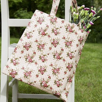 bag gift ideas vintage floral flowers pretty chic shopper bag shopping