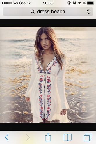 dress white hipster hawaiian chic hippie white dress summer dress sundress boho chic hippie chic hippie dress beach dress