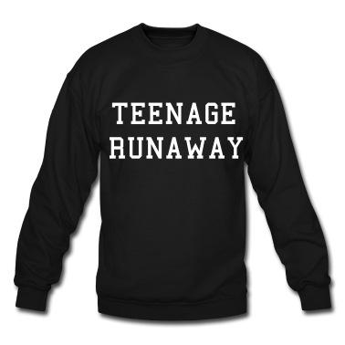 Teenage runaway (white) sweatshirt