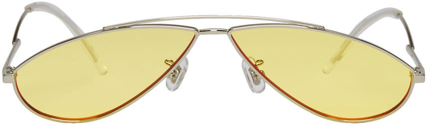 c07d7f3bf331 Gentle Monster - Deborah Cat-eye Gold-tone And Acetate Mirrored ...