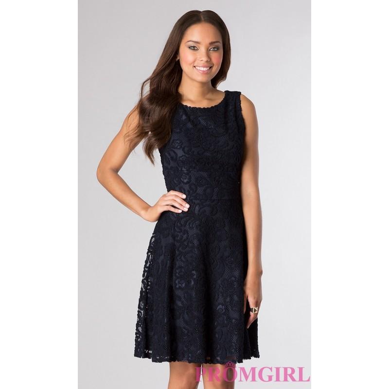 Knee Length Sleeveless Lace Dress By Tiana B Discount