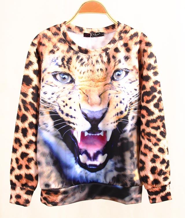 2013 Winter Women 3D Printing Animal Hoodies Harajuku Tiger Leopard Sweatshirts Brand Hoodies & Sweatshirts Women Winter Coat-in Hoodies & Sweatshirts from Apparel & Accessories on Aliexpress.com