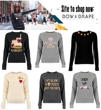 fashion foie gras blogger fries hamburger funny sweater quote on it grey sweater pizza