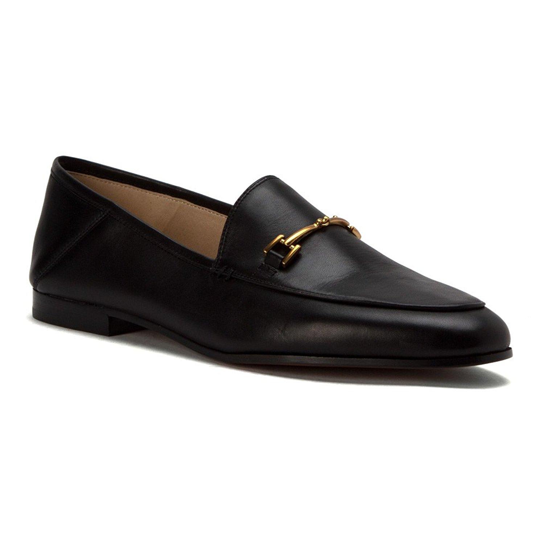 32189d10bae35 Amazon.com | Sam Edelman Women's Loraine Slip-On Loafer, Black Leather, 8  Medium US | Loafers & Slip-Ons