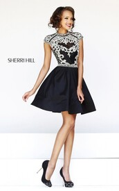 sherri hill 4300,beads homecoming dress