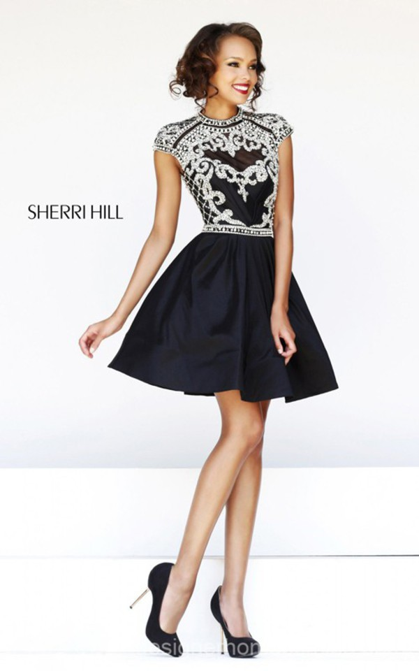 sherri hill 4300 beads homecoming dress