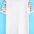 White Short Sleeve Peach Blossom Embroidered T-Shirt - Sheinside.com