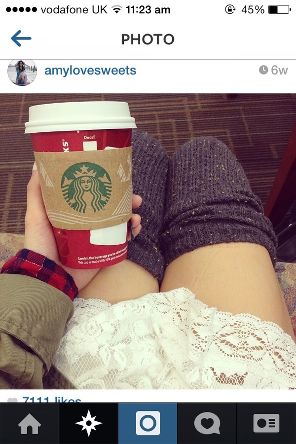 dress skirt white cream starbucks coffee long socks tumblr indie soft grunge underwear pants