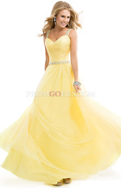 dress,yellow prom dress,chiffon prom dress,a line prom dress,plus size prom dress