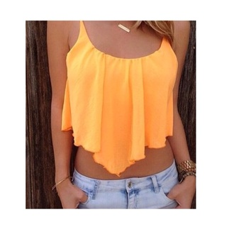 blouse orange bright sunny flowy summer