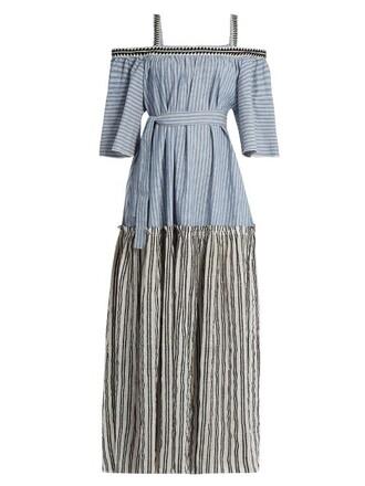 dress maxi dress maxi cotton blue