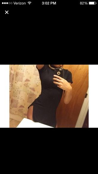 dress double split iphone6 iphone 6 plus little black dress black dress black t-shirt black top double slit maxi dress