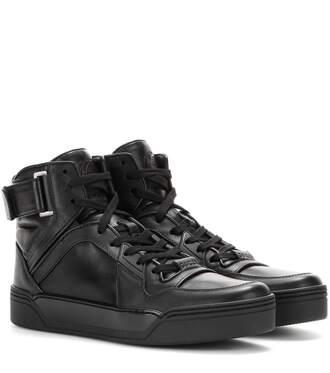 shoes leather leather shoes black shoes black sneakers high top sneakers