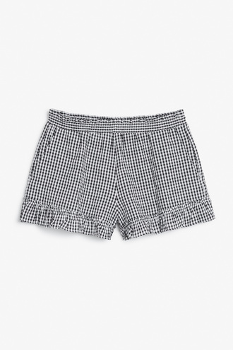 shorts gingham printed shorts mini shorts