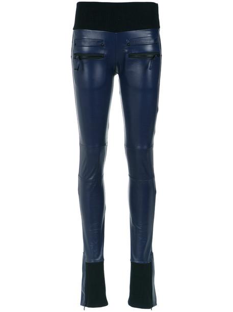 Andrea Bogosian women leather blue pants
