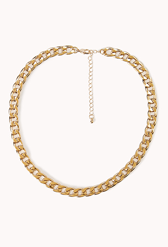 Chic curb chain necklace