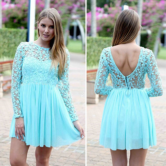 classy dress lace dress party dress preppy aqua