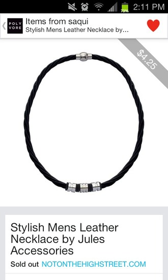 jewels black leather necklace mens jules accessories