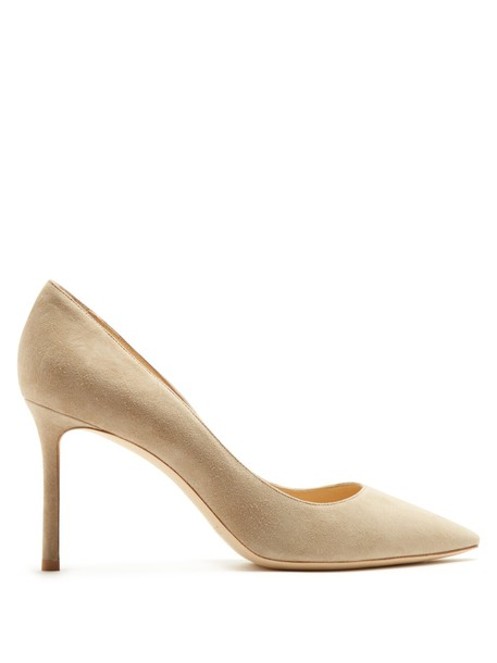 Jimmy Choo suede pumps pumps suede nude shoes