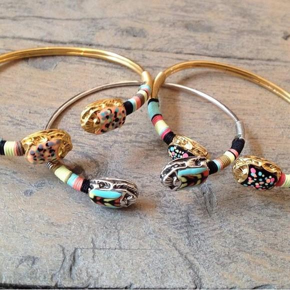 boho hippie colourful jewels gold bracelets gold bracelets gold jewelry silver silver bracelets