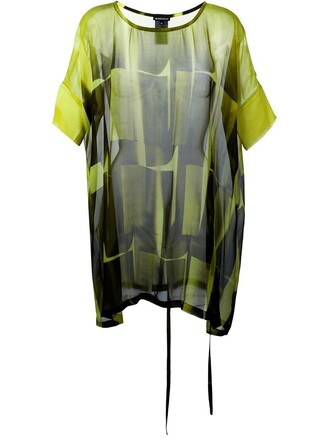 tunic sheer green top