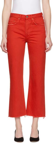 GRLFRND jeans red