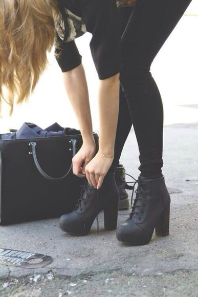 shoes black shoes boots high heel boots black boots