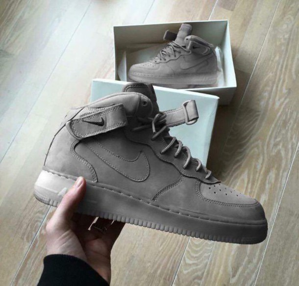 Air Force 1 High Black Suede