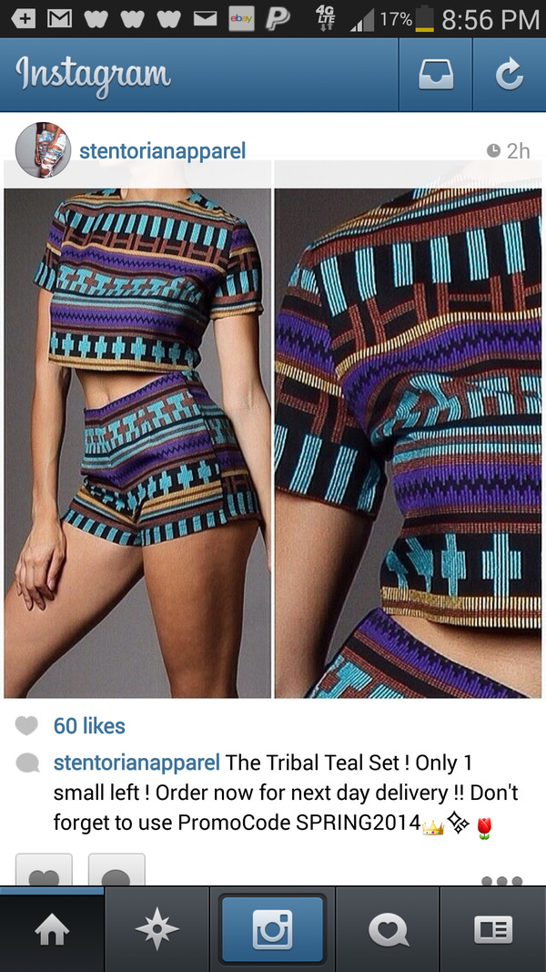 shorts tribal pattern