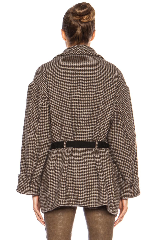 Isabel Marant Etoile | Janelle Heavy Wool-Blend Jacket in Brown