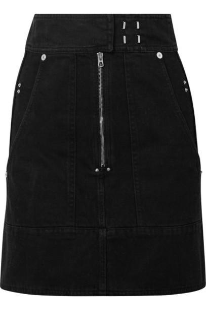 Isabel Marant skirt mini skirt denim mini black