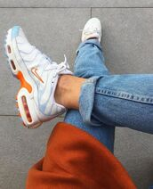 shoes,nike,air max,nike tuned,nike tn,nike air max premium plus,air max premium plus,orange,white,blue,sneakers,tn,tuned,nike tuned 1 white,clementine,nike tuned 1,air max tn,nike tuned (tn)