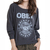 Obey Rocket To Nowhere Raglan in Graphite at Revert Ladies