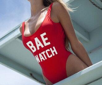 swimwear bae bae watch kardashians one piece swimsuit baywatch