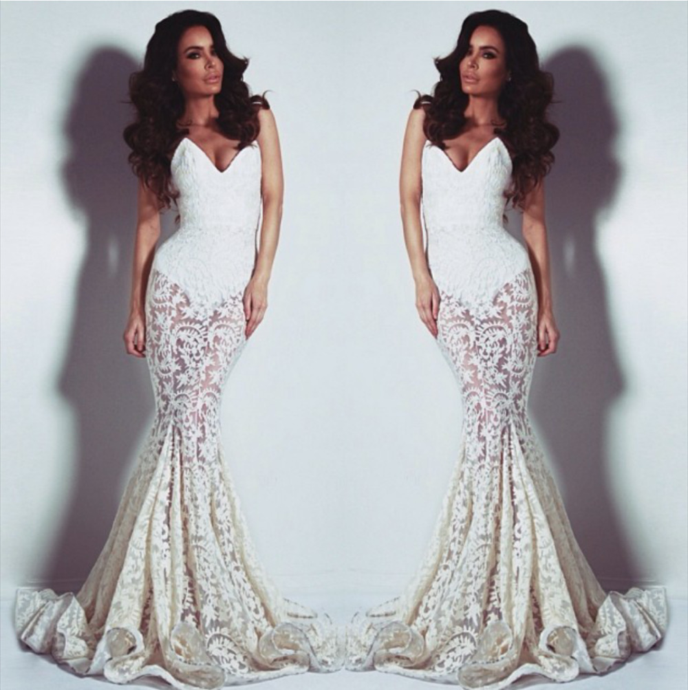 Aliexpress.com : buy sexy elegant high quality hollow out lace mermaid ivory prom dresses 2014 sweetheart sleeveless special occasion dress from reliable dress mandarin suppliers on suzhou babyonlinedress co.,ltd
