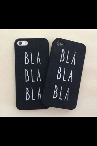 phone cover bla bla bla black cover