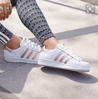 shoes rose gold adidas superstars