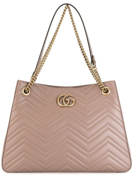 Gucci GG Marmont tote bag, Womens, Nude/Neutrals, Leather