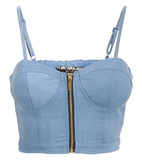 Jaelynn chambray bralet in denim blue