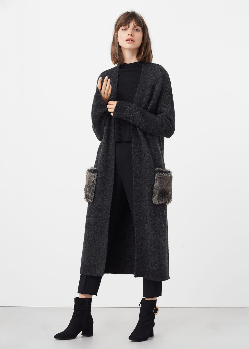 fur pockets cardigan - Cardigans and sweaters for Woman | MANGO USA