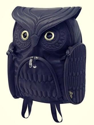 bag owl backpack school bag cartoon cute