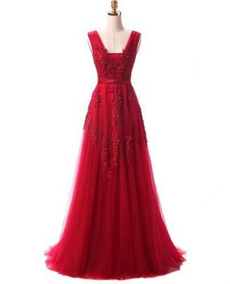 dress prom dress evening dress red formal dress open back backless party dress wedding appliques gown prom gown graduation dress special occasion dress