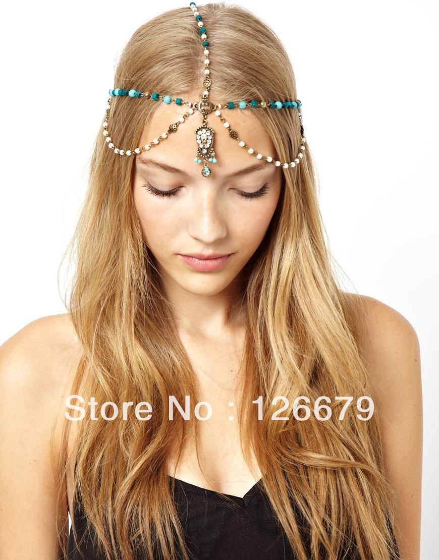 2014 New Arrival Fashion Design Charming Vintage  Head Pieces Chain Hair Jewelry for Women-in Hair Jewelry from Jewelry on Aliexpress.com