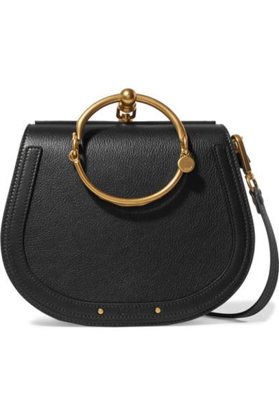Chloe bag shoulder bag leather suede black