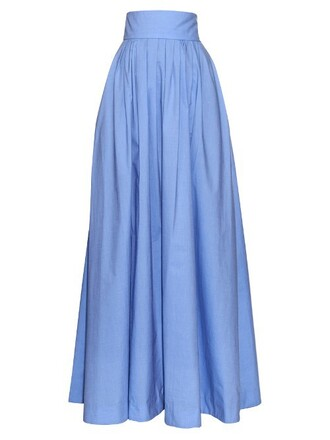 skirt maxi skirt maxi pleated blue