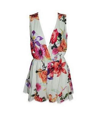 chiffon floral romper sleeveless jasmine