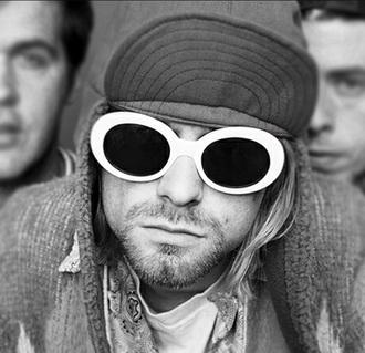 sunglasses round sunglasses retro sunglasses white sunglasses white sunnies glasses retro 90s style 90s grunge grunge grunge accessory accessories accessory kurt cobain