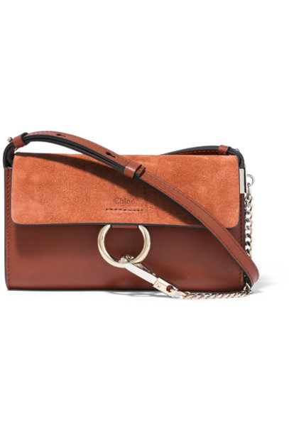Chloe mini bag shoulder bag leather suede brown
